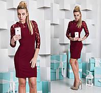 Женское красивое платье с гепюром (2 цвета)