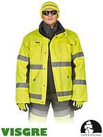 Куртка зимняя из флуоресцентной ткани LH-ROADER (для дорожников)