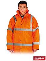 Куртка зимняя с отражающими полосами для дорожников K-VIS