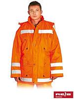 Куртка зимняя с отражающими полосами для дорожников K-ORANGE