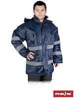 Куртка зимняя со светоотражающими полосами K-BLUE