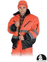 Куртка утепленная для дорожников со светоотражающими полосами 4 в 1 LH-XVERT-J