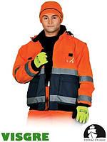 Куртка утепленная флисом со светоотражающими полосами LH-VIBER (для дорожников)