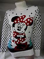 Женский вязаный  свитер с Микки Маусом, размер универсал (С-Л), много расцветок