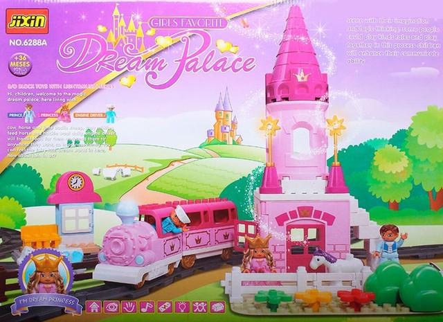 Конструктор для дівчинки Jixin Залізниця Dream Palace 6288 A, 81 деталь