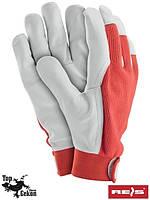 Перчатки рабочие кожаные TOPER-REVEL