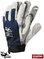 Перчатки рабочие кожаные TOPER-VELCRO