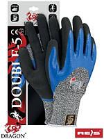 Рабочие перчатки с нитрилом DOUBLE-5