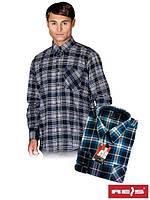 Рубашка мужская фланелевая KF- GNY  (100% хлопок)