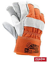 Перчатки рабочие спилковые усиленные ORANGE