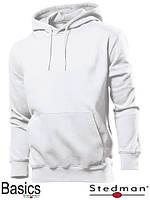 Толстовка-кенгуру мужская с капюшоном SST4100 WHI