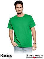 Футболка мужская зелёная для промо акций ST2000