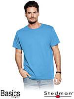 Футболка мужская голубая оптом для промо акций ST2000