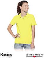 Футболка-поло женская оптом ST3100 желтая
