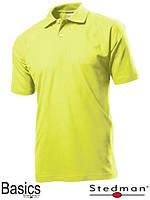 Футболка-поло мужская желтая