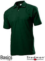 Футболка-поло мужская зелёная