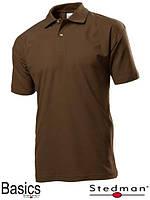 Футболка-поло мужская коричневая