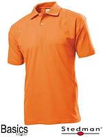 Футболка-поло оранжевая мужская