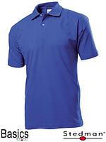 Футболка-поло мужская синяя
