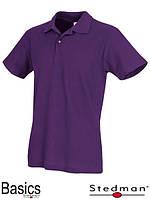 Футболка-поло мужская фиолетовая