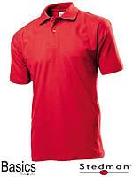 Футболка-поло мужская оптом SST3000 красная под нанесение