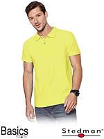 Футболка-поло мужская желтая оптом ST3000 под нанесение