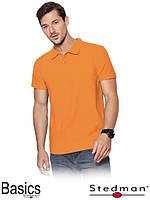 Футболка-поло мужская оптом ST3000 оранжевая (под нанесение)