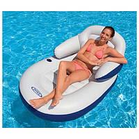 Intex 58864 Кресло-матрац с подлокотниками  Для плавания  (184х117см)