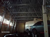 """Строительство СТО комбинированного типа: каркасник + арка с утеплением. Верхний слой выполнен """"картинами"""" по методу фальцевой кровли из оцинкованной стали с полиэстеровым покрытием. фото 1"""