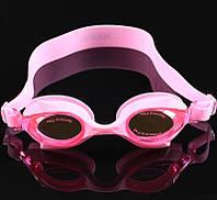 Очки для плавания «Рыбки» (детские, антифог, силиконовая переносица). Цвет розовый., фото 1