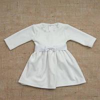 Платье нарядное Намистинка д.р. Велюр цвет белый, молочный, ментол, розовый размер 56-68 Бетис