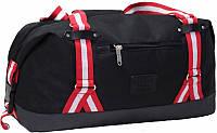 Дорожная сумка мало-среднего размера (Черный с красным)