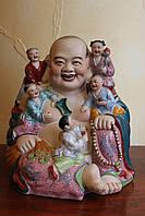 Хотэй с детьми  фарфор , Китай.  сер ХХ-го века