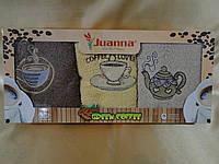 """Комплект махровых полотенец Juanna """"Cofee Splah"""" 100% cotton Турция"""