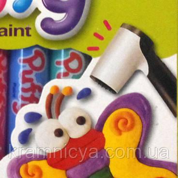 """Краски объемные """"PUFFY"""" ТМ """"AMOS"""", 10 цв. х 10.5мл. Купить в интеренет-магазине Крамниця Творчості"""