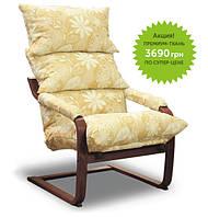 Кресло SuperComfort Дизайн Орех Элла Цветы