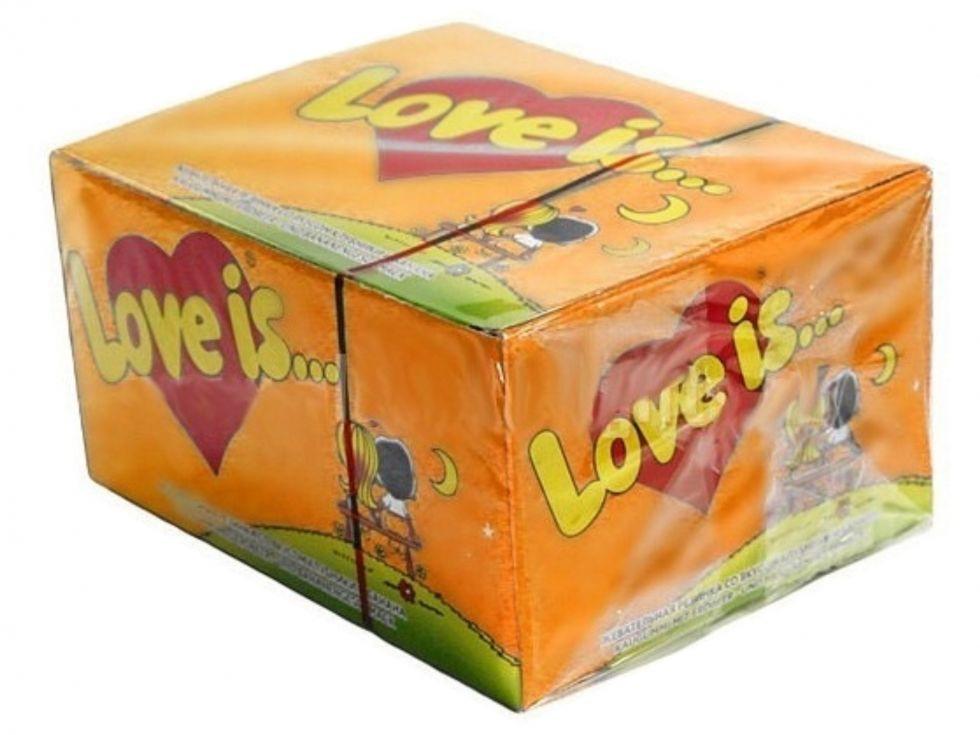 """Блок жвачек """"Love is""""  апельсин- ананас"""