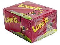 """Блок жвачек """"Love is""""   вишня-лимон"""