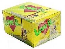 Жуйки Love is блок 100 шт кокос-ананас