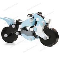 Большой мотоцикл-конструктор деревянный на магнитах