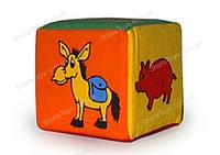 """Мякгий  кубик-погремушка """"Животные"""""""