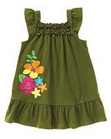 Детское трикотажное платье 12-18  месяцев