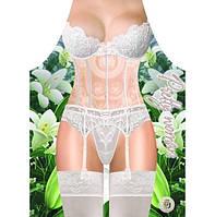 Прикольный Фартук женский Белое кружевное белье