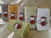 Комплект из 6 махровых хлопковых полотенец с вышивкой  Merzuka  Турция