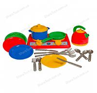 """Набор игрушечной посуды с плитой """"Галинка-7"""""""