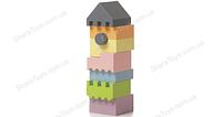 Пирамида-конструктор деревянная