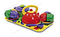 Набор игрушечной посуды на разносе