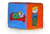 """Мягкий кубик-погремушка """"Дети"""""""