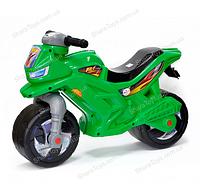 Беговел-мотоцикл 2-х колесный, зеленый
