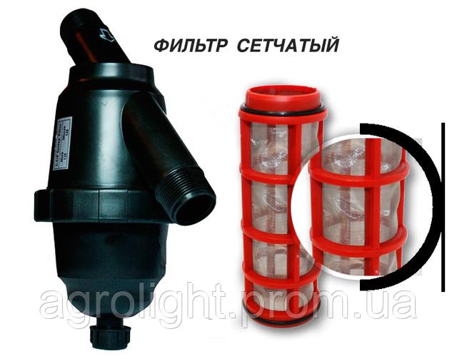 """Капельная лента Стартейп+фильтр 1""""+инжектор 3/4"""